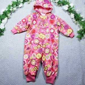 Hanna Andersson floral/paisley bunting/snowsuit